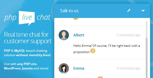 PHP Live Support Chat Update 19 February 16