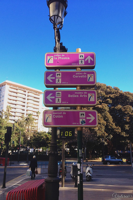 Info boards. Valencia