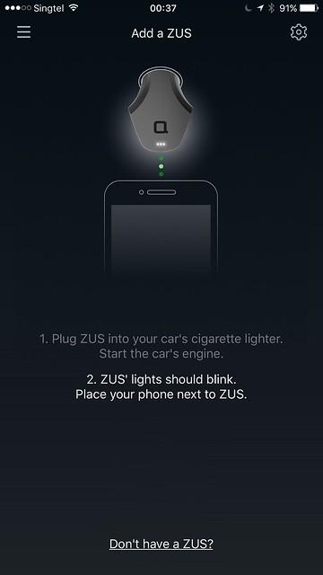 ZUS iOS App - Setup 2