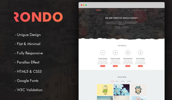 Rondo - Responsive One Page Template
