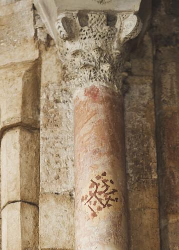 Columna del arco toral. Capitel califal S. X