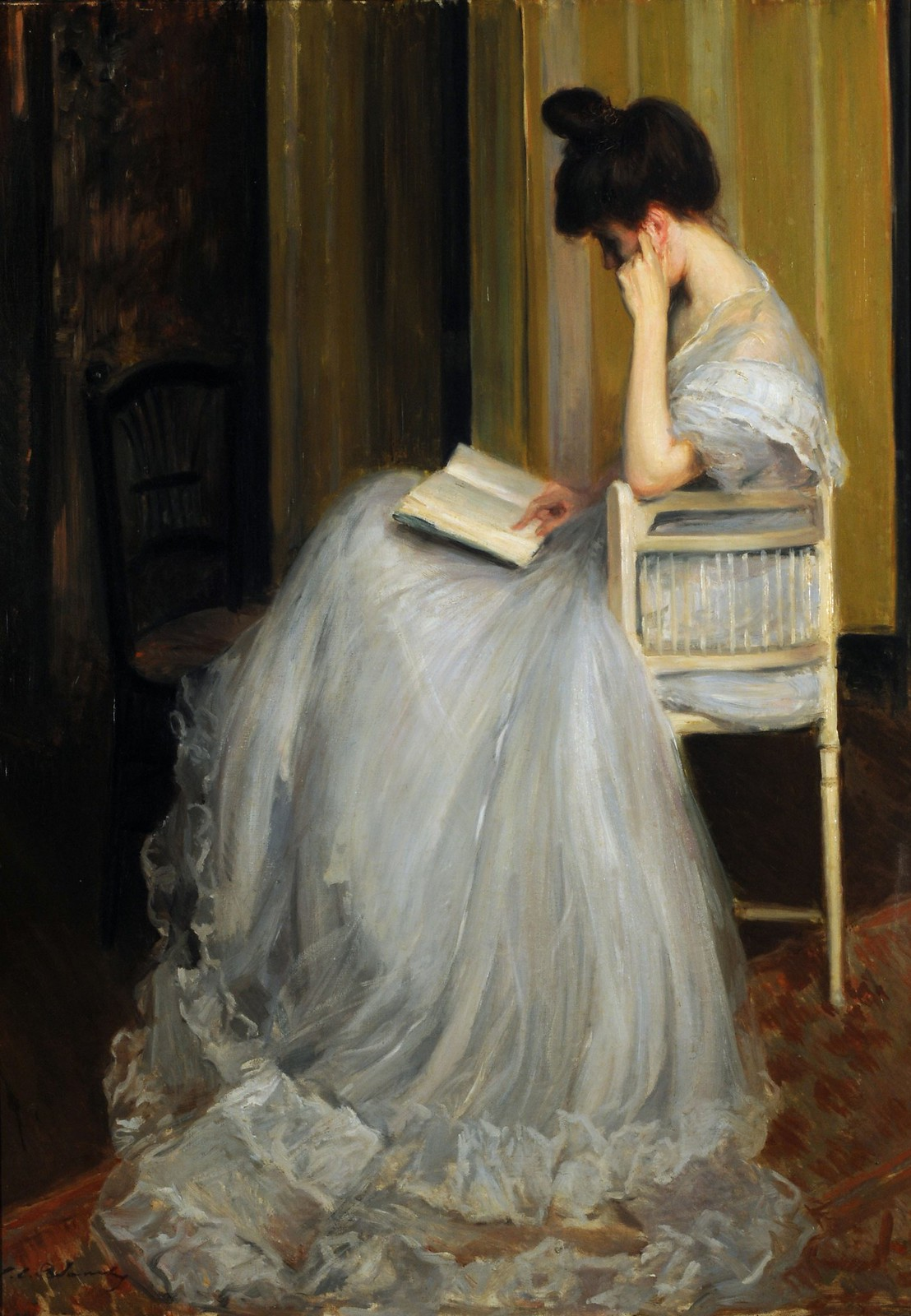 Woman reading by Jacques-Émile Blanche