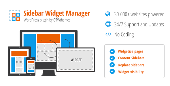 Sidebar & Widget Manager v3.23 for WordPress