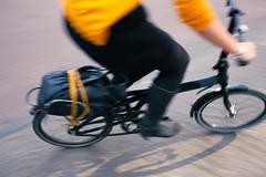 Yellow cyclist