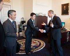 Governor Welcomes Ambassador Sasae of Japan