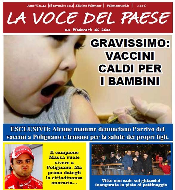 polignano la voce del paese giornale 28 novembre 2014 copertina