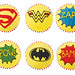 Super Hero Cupcakes by Biscuiteers