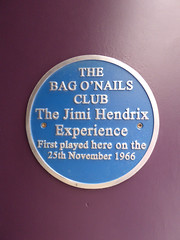 Photo of Jimi Hendrix, The Jimi Hendrix Experience, Mitch Mitchell, and Noel Redding blue plaque