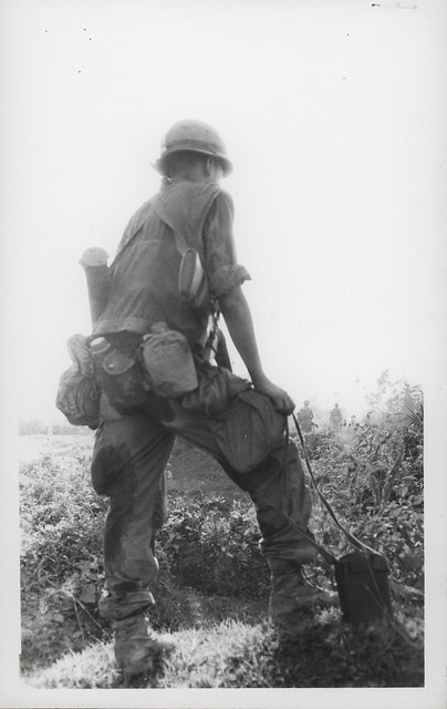A Member of 2d Battalion, 4th Marines Waits to Move Out, May 1968