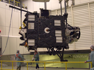 Modelo de vuelo con louvres visibles de Rosetta.