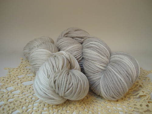 October Yarn Club: Grandmother's Moon and Handspun Spidersilk