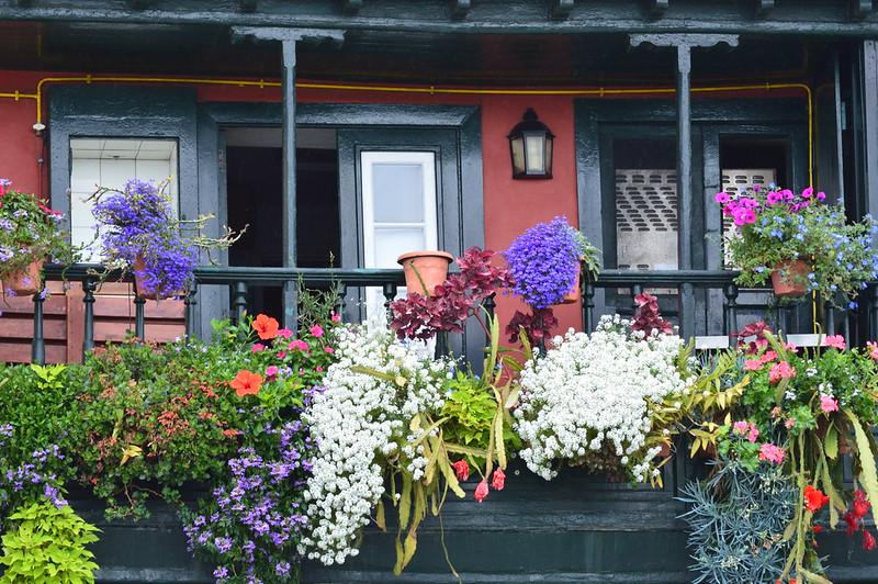 balcony with flowers in Santa Cruz de La Palma - Balcon con flores en Santa Cruz de La Palma