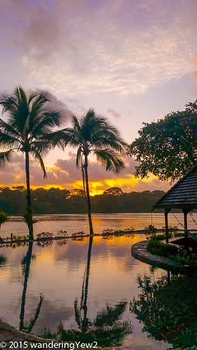 reflection sunrise costarica tortuguero tortugalodgeandgardens wildernesstraveltour
