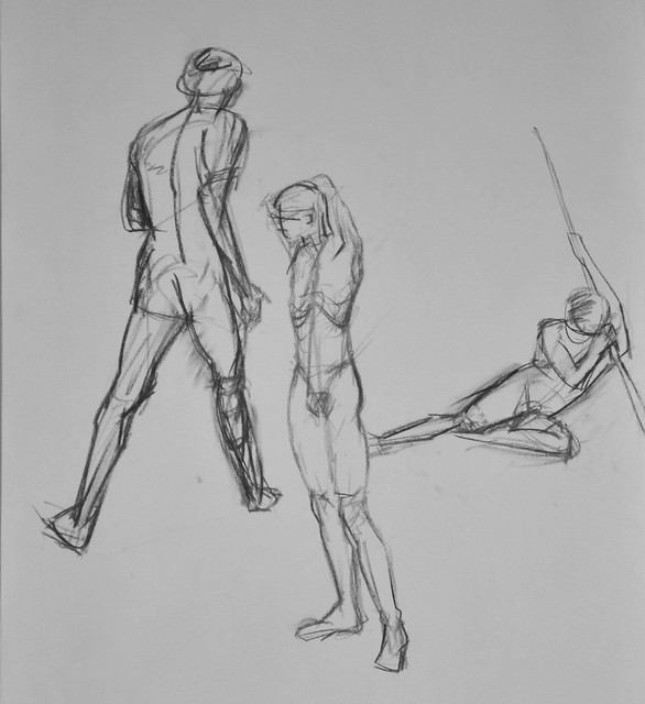 short pose figure drawing