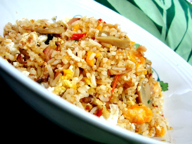 STP's salted egg and bacon fried rice 1