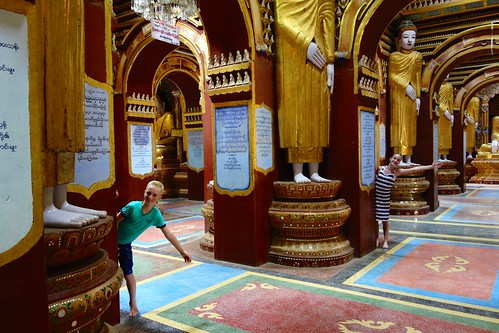 Fun inside Thanboddhay Monywa Myanmar