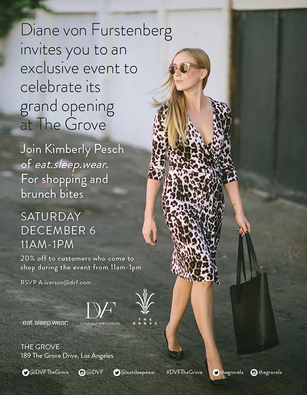 eatsleepwear, DVF, event, The-Grove, LA