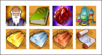 free The Alchemist's Spell slot game symbols