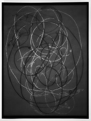 """Parallel Universes  Paralleluniversen - Physics and Music: Albert Einstein`s Violin String ~ Einsteins Geigensaite - Drawings of a no longer used Prop, that was placed on my table during Rehearsals Friedrich Dürrenmatt """"Die Physiker"""" """"The Physicists"""""""