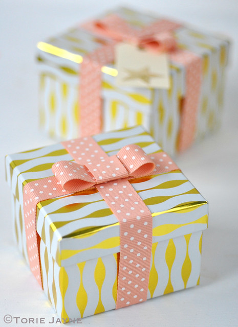 White chocolate & Orange truffles packaged