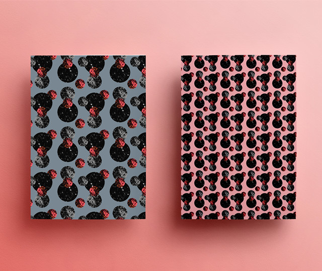moons pattern notebook mockup by laura redburn