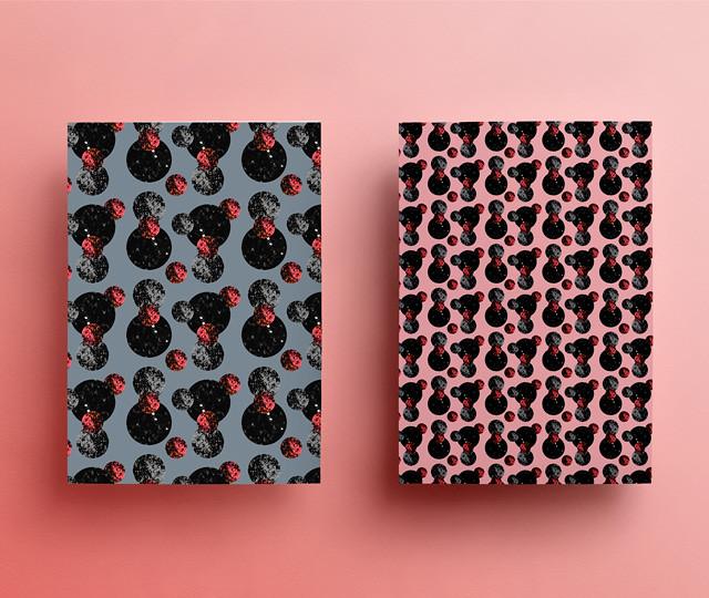moons pattern notebook mockup by laura redburn