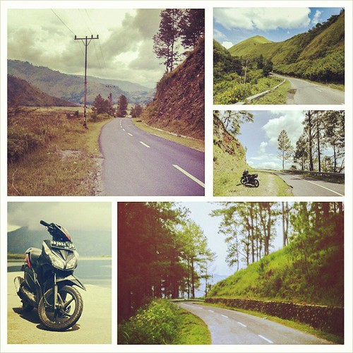 Motorcycle Diaries. The road up to Tele is absolutely gorgeous and breathtaking. The weather was perfect too - sunny yet cool and crisp air. Sigh.. I miss it already. More photos http://goo.gl/oT0SKl  #motorcyclediaries #motorcycle #laketoba #danautoba #i