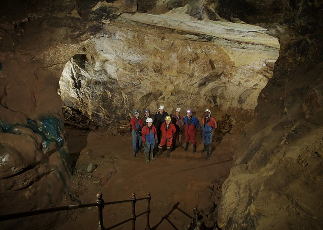 The group in the Engine Vein - Alderley Edge Copper Mines