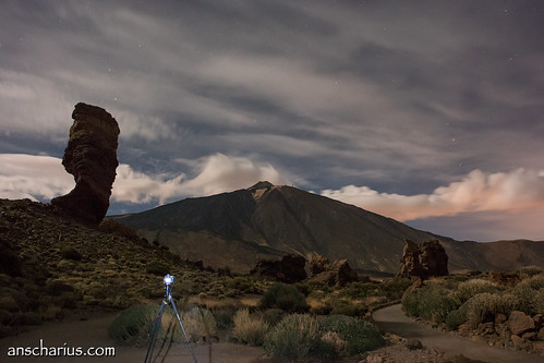 Shooting Nikon D800E while shooting El Teide
