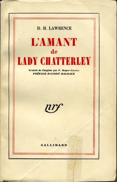 L'amant de Lady Chatterley by, D. H. LAWRENCE