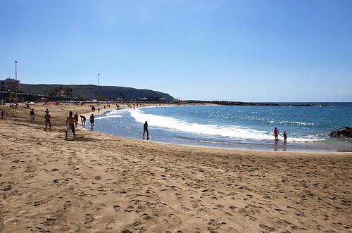 Playa las Vistas, Los Cristianos, March, Tenerife