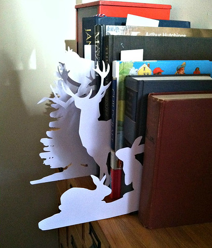 Cut Paper Animals and Tree