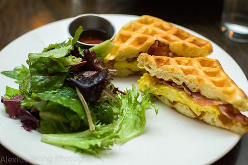 Belgian-American Breakfast Sandwich