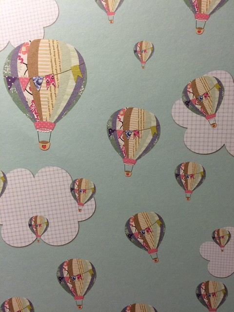 docrafts design team blog hop - Hot air balloon Bellissima paper