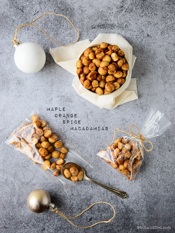 Maple Orange Spice Macadamia Nuts