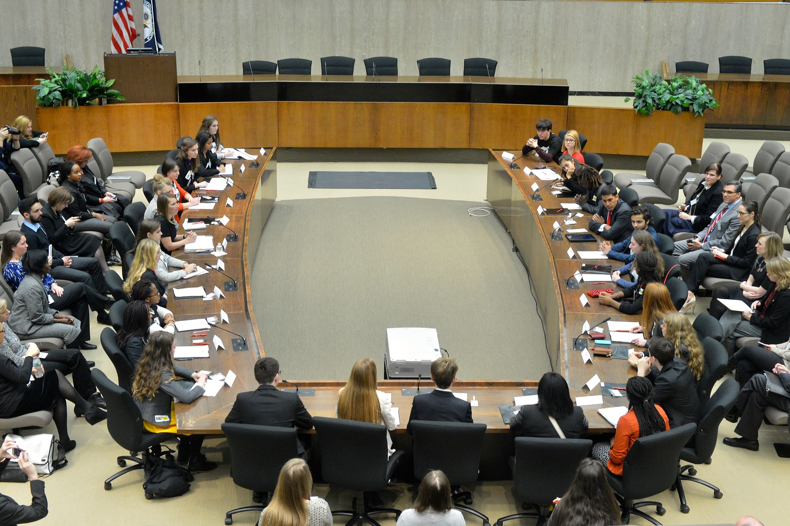 Deputy Secretary Higginbottom and USAID Administrator Shah Host a Roundtable Discussion With Students Participating in the Launch of Action/2015