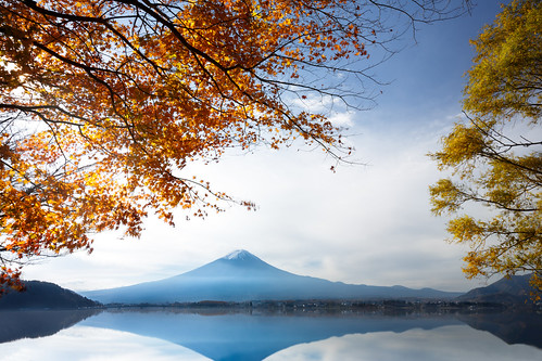 morning travel autumn winter red sky mountain lake snow plant tree fall leave tourism nature water beautiful yellow japan river garden season landscape japanese volcano tokyo leaf maple scenery asia day fuji mt view background scenic mount fujisan copyspace mtfuji kawaguchiko yamanashiken minamitsurugun