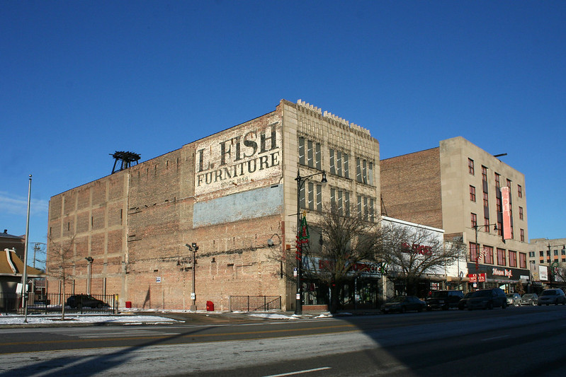 L. Fish Furniture / Dream Town Shoes building