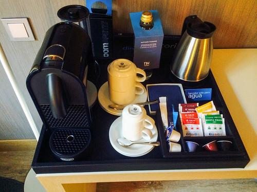 Detalle Nespresso en la habitacion