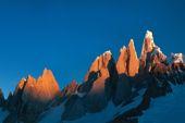 """Patagonien, Südliches Inlandeis. """"Circo de los Altares"""" am Cerro Torre. Foto: Sigi Hupfauer."""