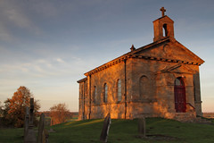 Rokeby church catches the last light. 29.10.14