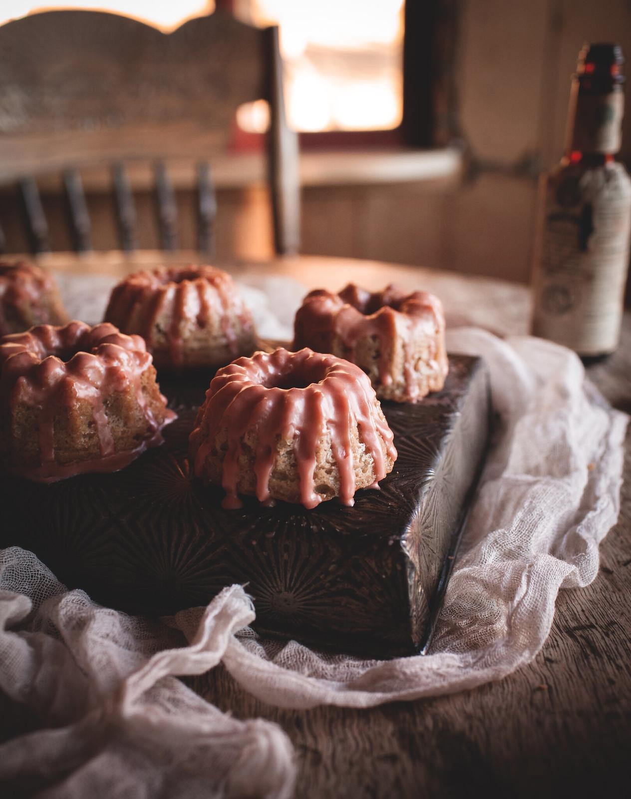Mini Nutmeg-Crème Fraîche Bundt Cakes with Angostura Glaze + a giveaway!