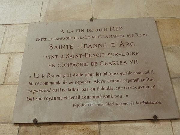 jeanne d'arc à saint benoît