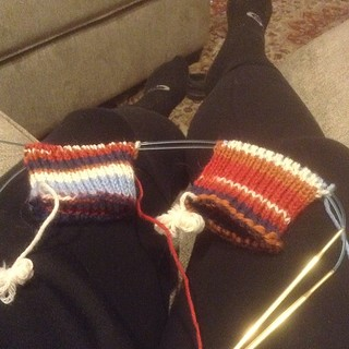 TAAT socks coming right along...