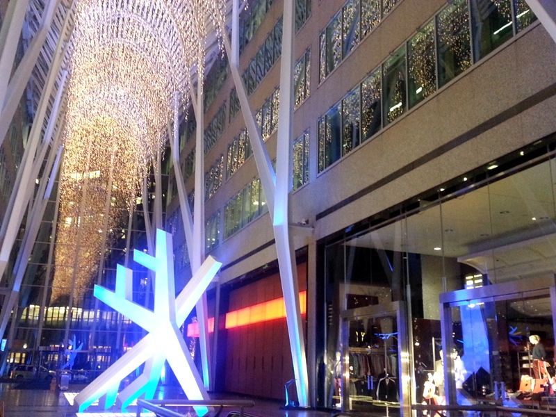 Brookfield Place Christmas lights