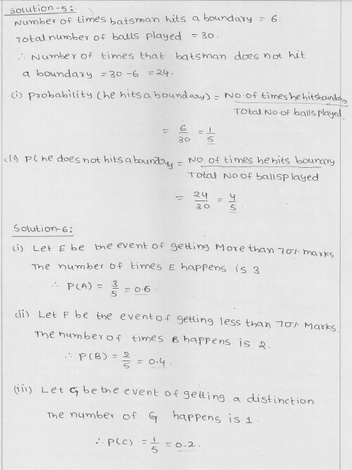 RD Sharma Class 9 Solutions Chapter 25 Probability 4
