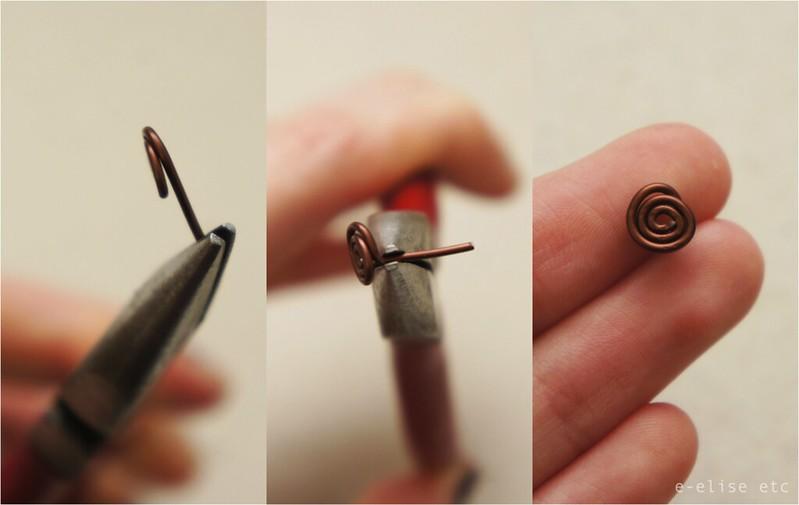 DIY Spiral Stud Earrings