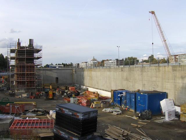 Hämeenlinnan moottoritiekate ja Goodman-kauppakeskus: Työmaatilanne 22.9.2012 - kuva 9