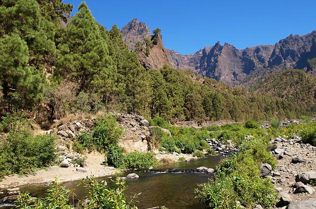 Diverse scenery, La Caldera de Taburiente, La Palma, Canary Islands