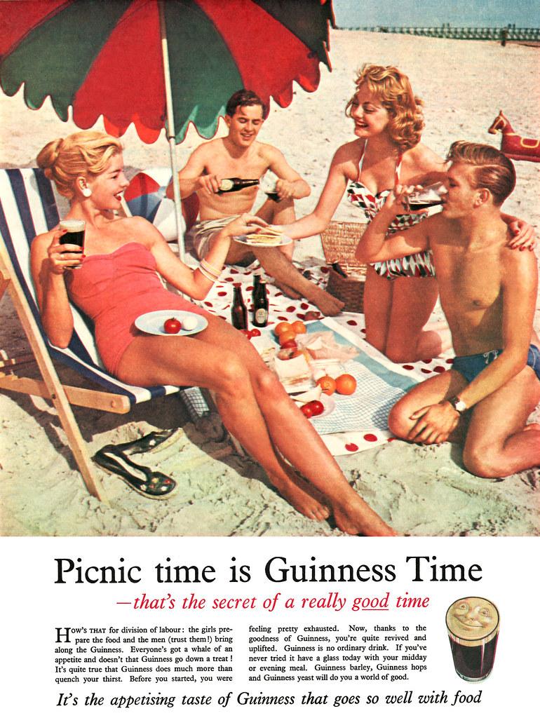 Guinness-1957-beach-picnic